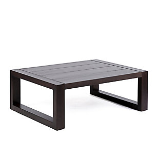 Paradise Outdoor Dark Eucalyptus Wood Coffee Table, Dark Brown, large