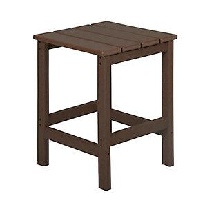 "Venice 18"" Outdoor Square Side Table, Dark Brown, rollover"