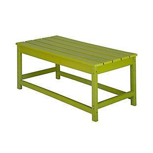 Venice Outdoor Coffee Table, Lime, large