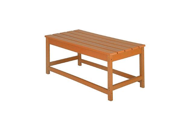 Venice Outdoor Coffee Table, Orange, large