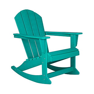 Venice Outdoor Adirondack Rocking Chair, Turquoise, rollover
