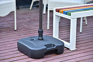 Camson Outdoor Plastic Free Standing Umbrella Base, , rollover