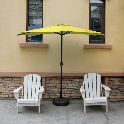 Abbott 9' Outdoor Half Round Crank And Tilt Patio Umbrella, Lime, large