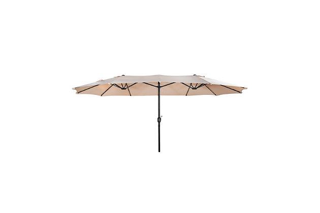Hampson 15 X 9' Outdoor Market Umbrella, Beige, large