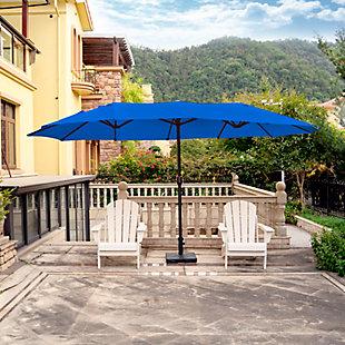 Hampson 21 X 9' Outdoor Market Umbrella, Royal Blue, rollover