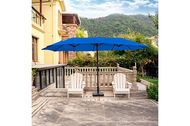 Hampson 21 X 9' Outdoor Market Umbrella, Royal Blue, large