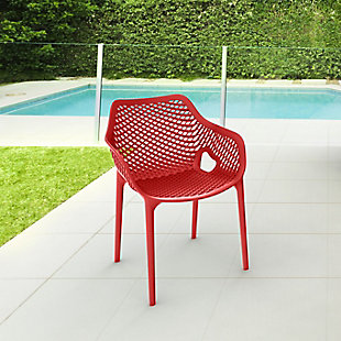 Siesta Outdoor Air XL Dining Arm Chair Red (Set of 2), Red, rollover
