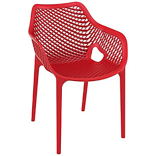 Siesta Outdoor Air XL Dining Arm Chair Red (Set of 2), Red, large