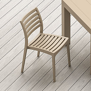Siesta Outdoor Ares Dining Chair Taupe (Set of 2), , rollover