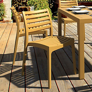 Siesta Outdoor Ares Dining Chair Teak Brown (Set of 2), , rollover