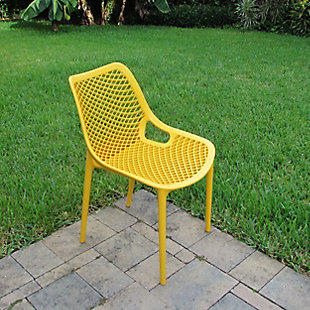 Siesta Outdoor Air Dining Chair Yellow (Set of 2), Yellow, rollover