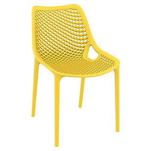 Siesta Outdoor Air Dining Chair Yellow (Set of 2), Yellow, large