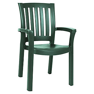 Siesta Outdoor Sunshine Dining Arm Chair Green (Set of 4), Dark Green, large