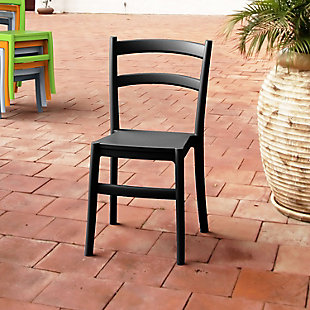 Siesta Outdoor Tiffany Dining Chair Black (Set of 2), , rollover