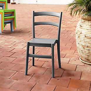 Siesta Outdoor Tiffany Dining Chair Dark Gray (Set of 2), , rollover