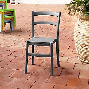 Siesta Outdoor Tiffany Dining Chair Dark Gray (Set of 2), Dark Gray, rollover