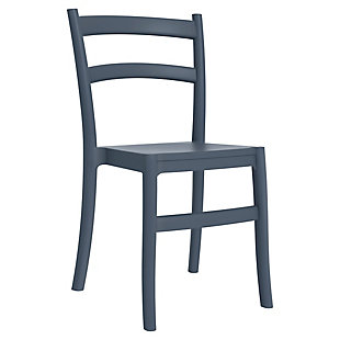 Siesta Outdoor Tiffany Dining Chair Dark Gray (Set of 2), Dark Gray, large