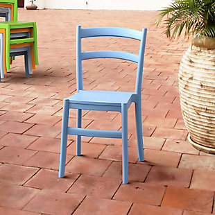 Siesta Outdoor Tiffany Dining Chair Light Blue (Set of 2), Light Blue, rollover