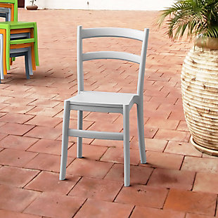 Siesta Outdoor Tiffany Dining Chair Silver Gray (Set of 2), Silver Gray, rollover