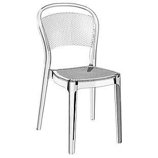 Siesta Outdoor Bee Dining Chair Transparent Clear (Set of 2), Transparent Clear, large