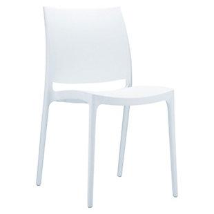 Siesta Outdoor Maya Dining Chair White (Set of 2), White, large