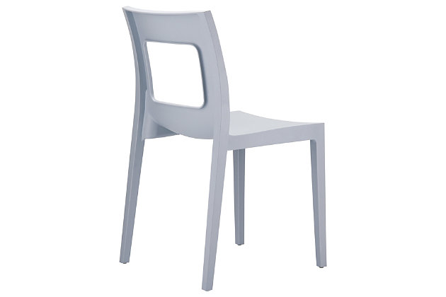 Siesta Outdoor Lucca Dining Chair Silver (Set of 2), Silver Gray, large