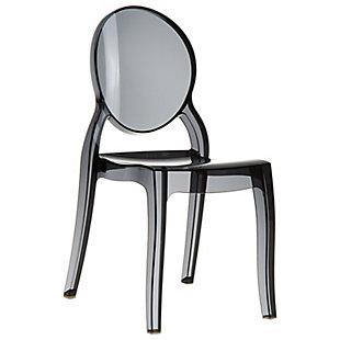 Siesta Outdoor Elizabeth Dining Chair Transparent Black (Set of 2), Transparent Black, large