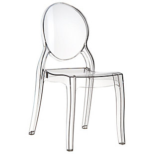 Siesta Outdoor Elizabeth Dining Chair Transparent Clear (Set of 2), Transparent Clear, large