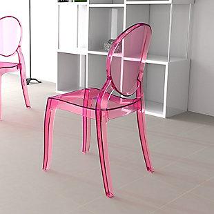 Siesta Outdoor Elizabeth Dining Chair Transparent Pink (Set of 2), , rollover