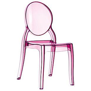 Siesta Outdoor Elizabeth Dining Chair Transparent Pink (Set of 2), , large