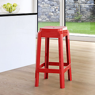 Siesta Outdoor Fox Counter Stool Glossy Red (Set of 2), Glossy Red, rollover