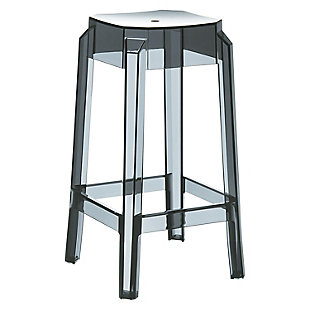 Siesta Outdoor Fox Counter Stool Transparent Black (Set of 2), , large
