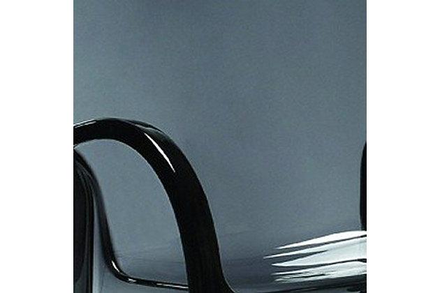 Siesta Outdoor Fox Counter Stool Transparent Black (Set of 2), Transparent Black, large