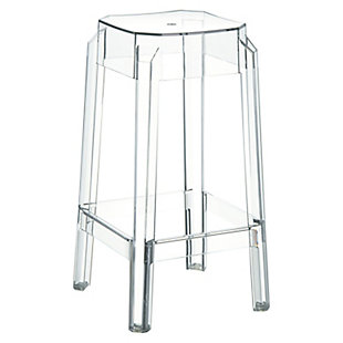 Siesta Outdoor Fox Counter Stool Clear Transparent (Set of 2), , large