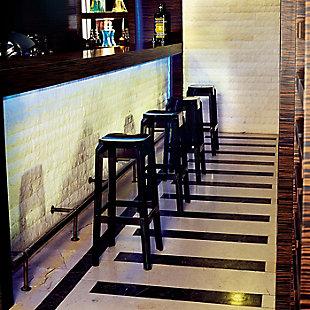 Siesta Outdoor Fox Bar Stool Transparent Black (Set of 2), , rollover