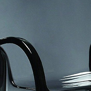 Siesta Outdoor Fox Bar Stool Transparent Black (Set of 2), Transparent Black, large