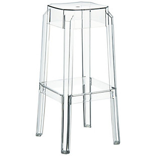 Siesta Outdoor Fox Bar Stool Clear Transparent (Set of 2), , large