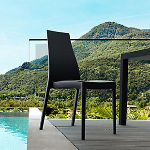 Siesta Outdoor Miranda Dining Chair Black (Set of 2), Black, rollover