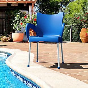 Siesta Outdoor Romeo Dining Arm Chair Dark Blue (Set of 2), , rollover