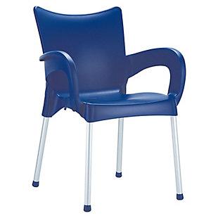 Siesta Outdoor Romeo Dining Arm Chair Dark Blue (Set of 2), , large