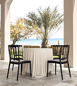 Siesta Outdoor Napoleon Dining Chair Black (Set of 2), Black, rollover