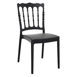 Siesta Outdoor Napoleon Dining Chair Black (Set of 2), Black, large