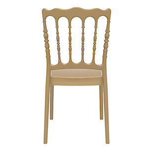 Siesta Outdoor Napoleon Dining Chair Gold (Set of 2), Gold, large