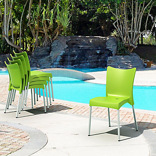 Siesta Outdoor Juliette Dining Chair Apple Green (Set of 2), , rollover