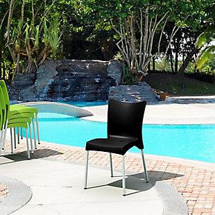 Siesta Outdoor Juliette Dining Chair Black (Set of 2), Black, rollover