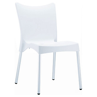 Siesta Outdoor Juliette Dining Chair White (Set of 2), White, large