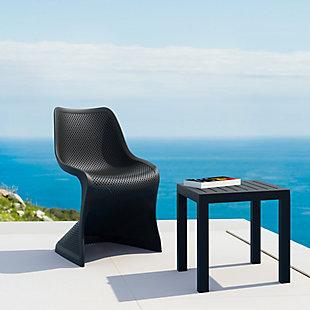 Siesta Outdoor Bloom Dining Chair Black (Set of 2), Black, rollover