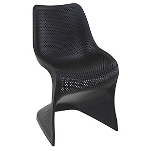 Siesta Outdoor Bloom Dining Chair Black (Set of 2), Black, large