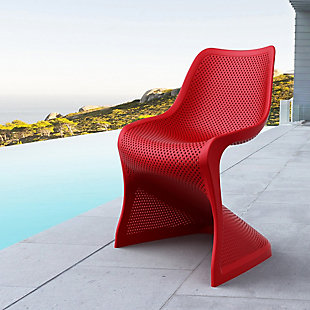Siesta Outdoor Bloom Dining Chair Red (Set of 2), Red, rollover