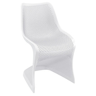 Siesta Outdoor Bloom Dining Chair White (Set of 2), White, large